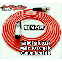 Kabel Mic XLR Male To Female Canon Neutrik 10 meter
