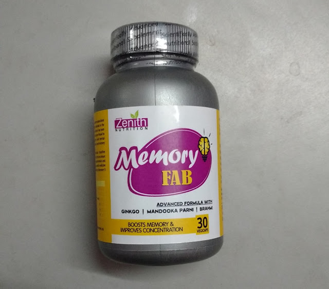 Zenith Nutrition Memory Fab Pictures and Review