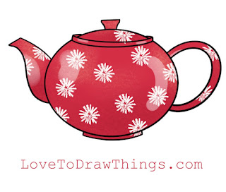Easy teapot to draw. Easy step-by-step drawing
