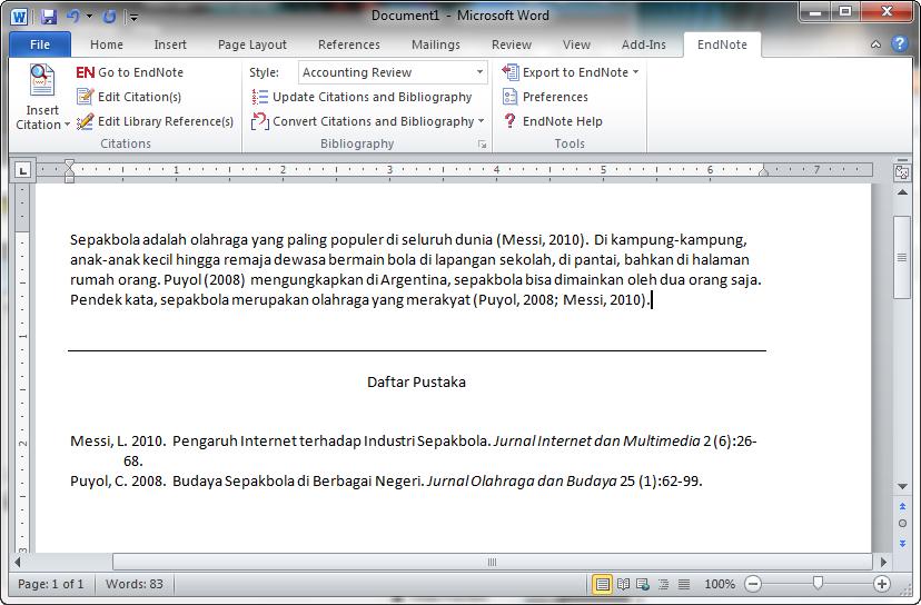 Jimat Digital Menulis Makalah Dengan Endnote