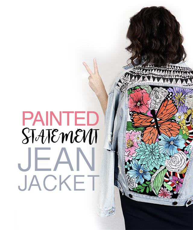 statement jean jacket