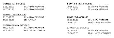 Planning Demo Days Adidas Pádel Sanchinarro 2019