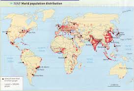 Penyebaran Jumlah Penduduk di Dunia