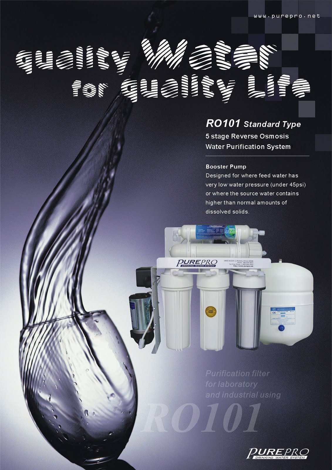PurePro® RO101 Reverse Osmosis Pure Water Filtration System