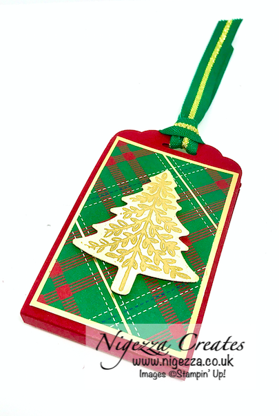 Perfectly Plaid Pine Tree Punch Stampin Up