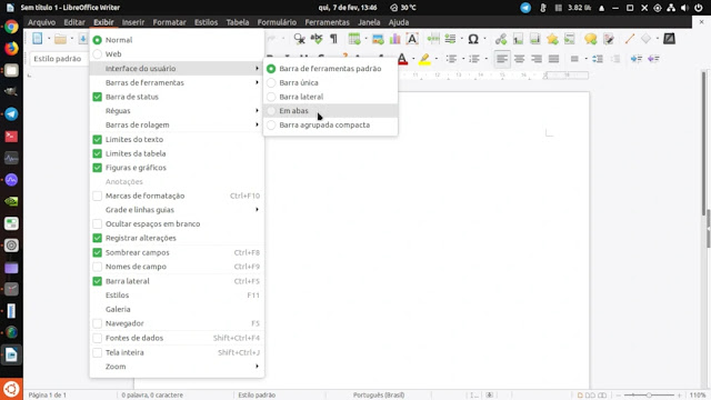 habilitar-interface-libreoffice-notebookbar