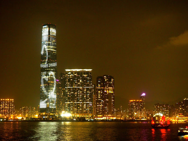 ICC at night, Kowloon, Hong Kong