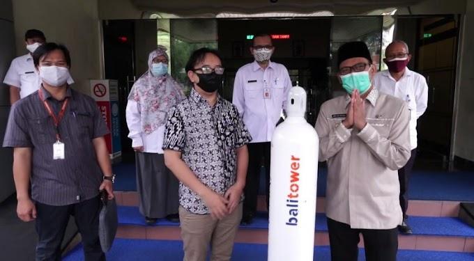 Pemkot Depok Dapat Bantuan 20 Tabung Besar Oksigen dari Bali Tower