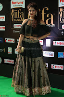 Ritika Singh in a Ethnic Deep Neck Dark Green Choli Ghagra at IIFA Utsavam Awards March 2017 ~ 045.JPG