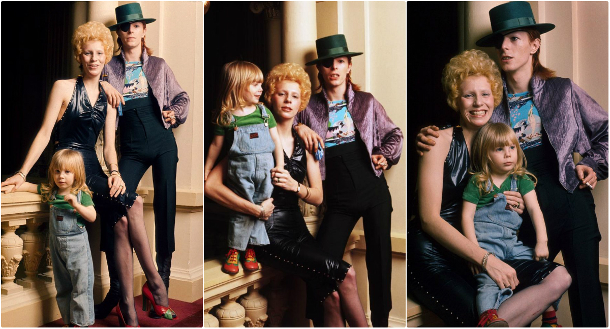 Pictures of David Bowie With His Wife Angie and Their Son Zowie in Amsterdam in 1974
