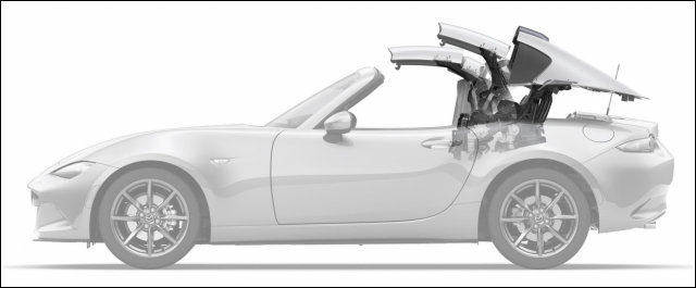 Production of the MX-5 RF model at Mazda's Ujina factory