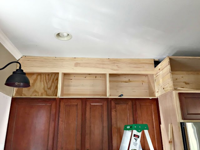 building kitchen cabinets to tall ceiling