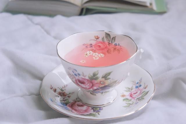broken pink tea cup