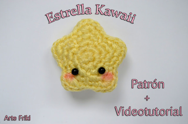 estrella amigurumi kawaii patron gratis star amigurumi free pattern crochet ganchillo cute adorable videotutorial youtube
