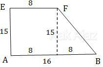 Trapesium ABFE, salah satu sisi prisma trapesium