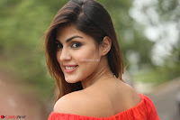 Rhea Chakraborty in Red Crop Top and Denim Shorts Spicy Pics ~  Exclusive 290.JPG