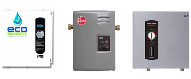 hot water heater family tankless save money energy efficient long lasting