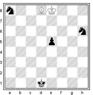 Estudio artístico de G. M. Kasparian (1º Premio, Torneo FIDE 1964)
