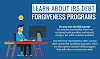 Learn About IRS Debt Forgiveness Programs #infographic