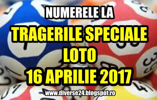 Numerele la tragerile loto speciale de Paste din 16 aprilie 2017