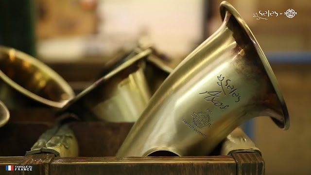 SeleS Axos Alto Saxophone bell raw manufacturing