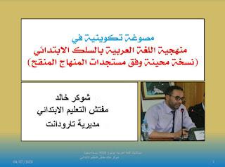 ديداكتيك اللغة العربية بالسلك الابتدائي وفق مستجدات المنهاج المنقح -يوليوز 2020