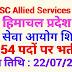 हिमाचल प्रदेश लोक सेवा आयोग शिमला में 54 पदों पर भर्ती !! HPPSC Allied Service 2019