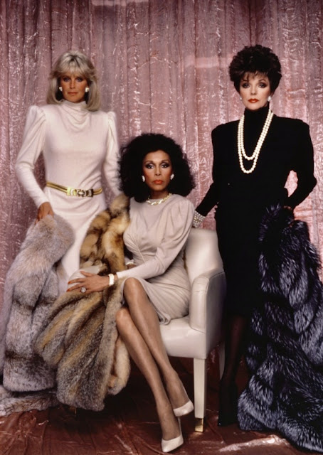 Dynasty 1980s glamorous women's fashion