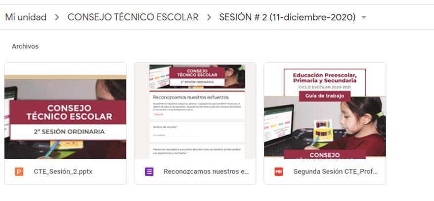 Materiales de apoyo para la Segunda Sesión Ordinaria del Consejo Técnico Escolar (CTE) - Diciembre 2020