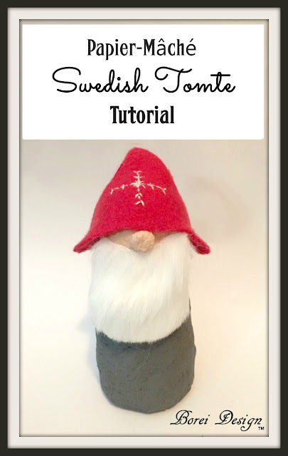 diy-craft-tutorial-recycled-upcycled-paper-papier-mache-tomte-make-how-to-swedish