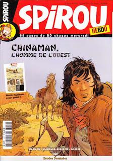 Spirou Hebdo, tremblez, Chinaman, l'homme de l'ouest , numéro 3610, année 2007