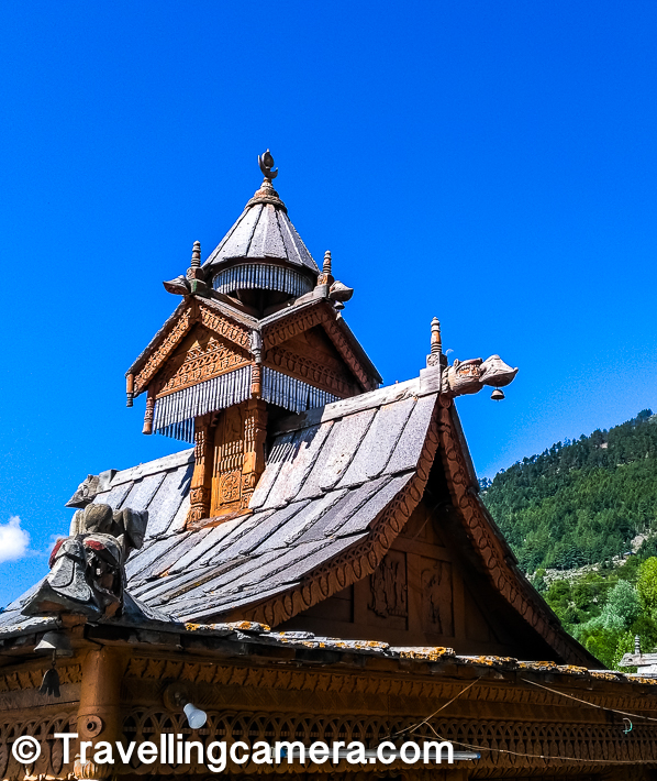 This temple has beautiful architecture with significant use of wood and stones. The roof is mainly wooden with specific kind of slates which is produced out of local mountains of special kind in Himachal Pradesh. I have some of such mountains in Dharmshala/Mcleodganj area.