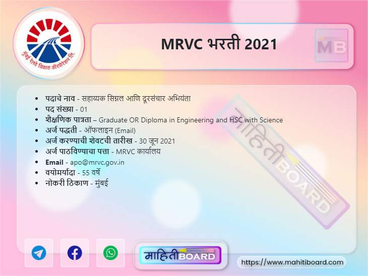 MRVC Bharti 2021