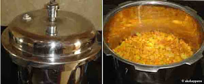 add water and pressure cook