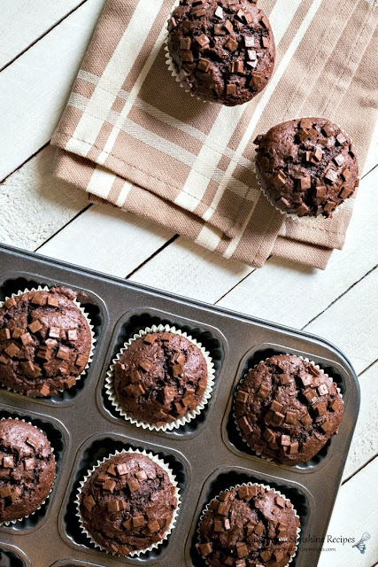 Chocolate Chunk Muffins From A Cake Mix Recipe