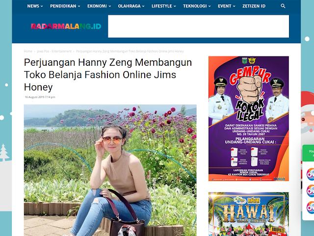 Perjuangan Hanny Zang Membangun Toko Fashion Online Jims Honey