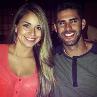 Martinez With His Girlfriend Ariana