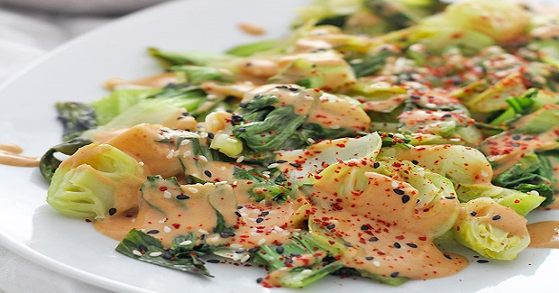 "Bok Choy With Easy ""Peanut"" Sauce Recipe"
