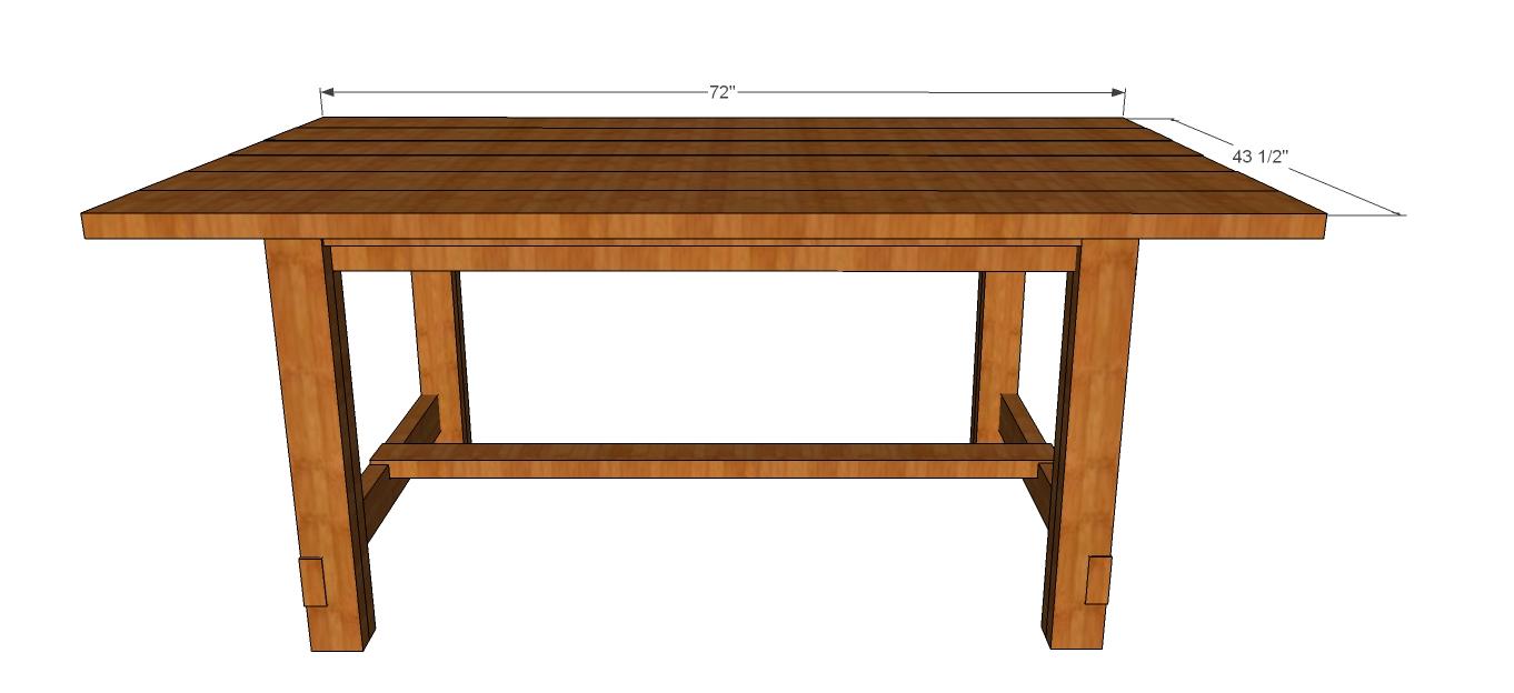 Woodwork Rustic Kitchen Table Building Plans PDF Plans