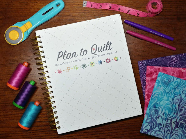 The Plan to Quilt project planner is an undated organizer great for tracking and recording quilty finishes!