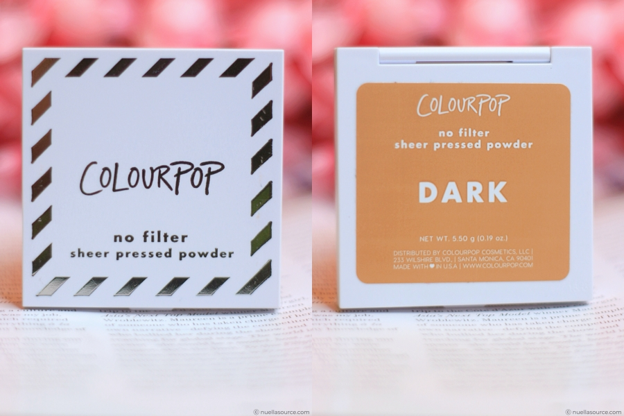 Colourpop no filter finishing powder packaging dark