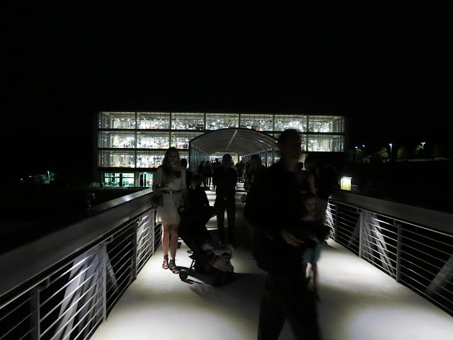 Barber Vintage Motorsports Museum at night