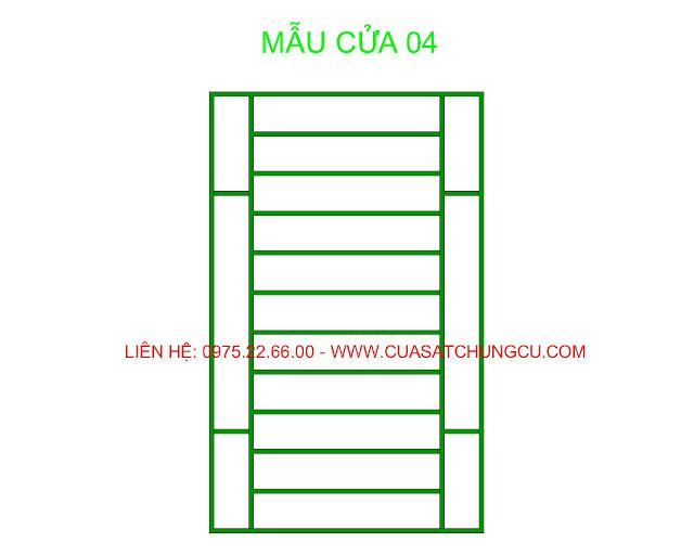 khung sắt bảo vệ cửa sổ chung cư dạng đơn giản số 04