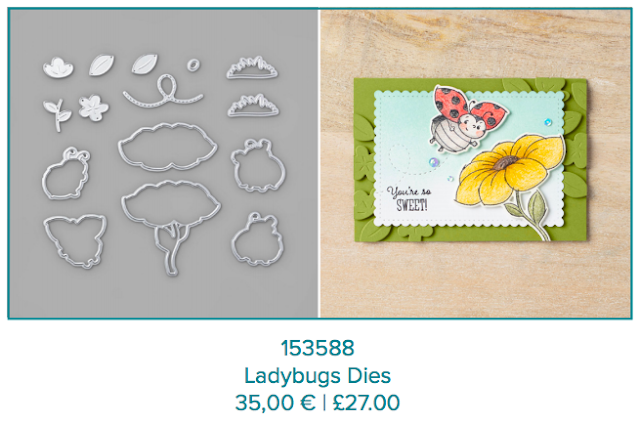 Ladybugs dies Stampin Up
