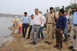 dc-visit-chhath-ghat-jamshedpur