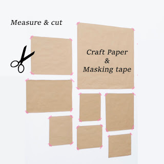 tape Craft paper on a wall to find the perfect layout for your wall art