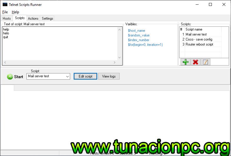 Telnet Scripts Runner con Licencia