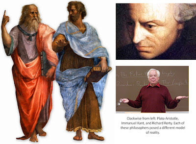 Plato, Aristotle, Kant, and Rorty. Each proposed a different model of reality.