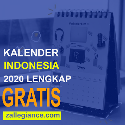 Download Kalender Indonesia 2020 Lengkap versi PDF, JPG, PNG, HD dan Vector