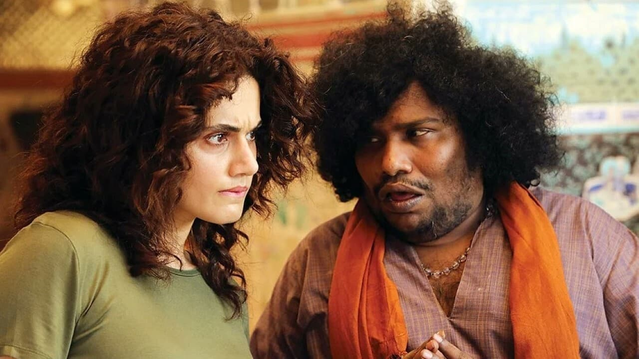 Tapsee Pannu dan Yogi Babu dalam Annabelle Sethupathi